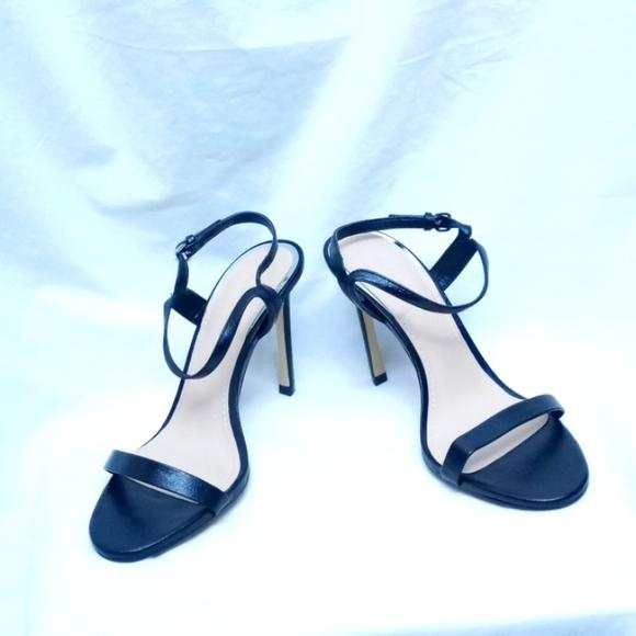 ZARA Black Heeled Sandals